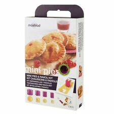 Mastrad Mini Pies & Ravioli 9pc Mold / Cutter Kit with Recipe Booklet