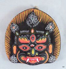 Exquisite Detail Mahakala Buddhist Deity Paper Mache Mask -Handpainted in Nepal