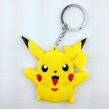 Pikachu Pokemon Pokedoll Character Rubber Key Chain Ring Keychain Holder New