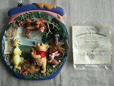 "Bradford Exchange 3D Plate Pooh's Honeypot Adventures ""Tigger's Tangle"" boxed"
