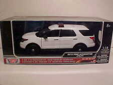 2015 Ford Explorer Police Interceptor Diecast SUV 1:18 Motormax 10inch Unmark WH
