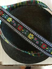 """10 Yds  OF WONDERFUL 7/8"""" FLORAL JACQUARD RIBBON TRIM AWESOME DESIGN AND COLORS"""