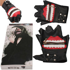 Cosplay Tokyo Ghoul Jin Muyan Sports Black Gloves White Cloud Anime Gloves gift