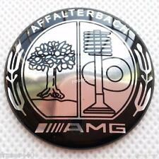 52MM MERCEDES BENZ AMG/AFFALTERBACH/APPLE TREE STEERING WHEEL BADGE FREE UK P&P