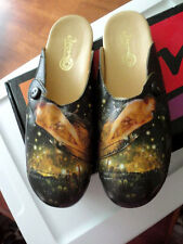 ICON Women's NIB Shoes Painted Leather Flat Slipper Midsummer Eve DALE-1   9 M