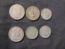 Lot of 6 Colombia Centavos Coins - 1881 2 1/2, 1886 5, 1938 5, 1948 1, 1949 5