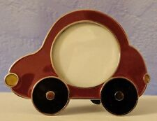 Enamel Photo Picture Frame Automobile Car Retro Bug round size New with Tags