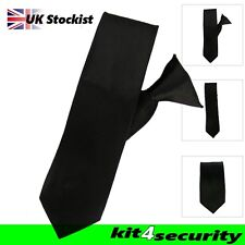 Black Clip on Tie Security Bouncer Police Cheap