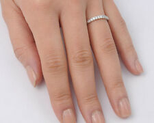 Silver Clear CZ Thin Ring Sterling Silver 925 Best Deal Jewelry Gift Size 9