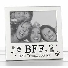 Best Friends Forever BFF Photo Picture Frame Satin Silver Finish Lovely Gift Ide