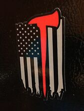 American Axe Flag Firefighter Red Line Decal Sticker Graphic USA Punisher