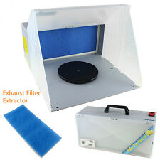 OPHIR Portable Airbrush Paint Spray Booth Kit & Exhaust Filter Extractor Set