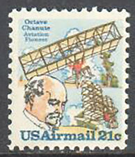 SC#C94 - 21c Biplane Hang-Glider & Chanute MNH