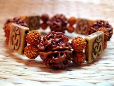 5 Mukhi Rudraksha Five Face Rudraksh18-20 mm NEPAL beads AUM Bracelet wrist band