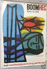 AFFICHE ANCIENNE  GUY GEORGET  BOOM HEC circa 1960