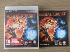 PLAYSTATION 3 PS3   MORTAL KOMBAT     COMPLET EN FRANCAIS