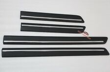 Black+chrome Body door Side Molding Trim sill Land Rover Discovery 3 4 LR3 LR4