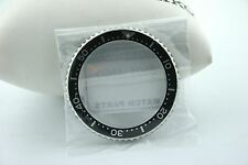 SEIKO GENUINE BEZEL - PART #8601 469D -STAINLESS STEEL/BLACK - FOR SKX173 - NEW
