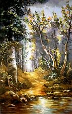 """Tapestry Gobelin Needlepoint Kit """"The forest""""  printed canvas 075"""