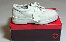 Ladies White Real Leather Lace Up Shoes Hospital Pro BNIB Golf UK Size 7 #155