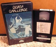 DEATH CHALLENGE martial arts Steve Leung kung fu extortionist Jimmy Lee VHS