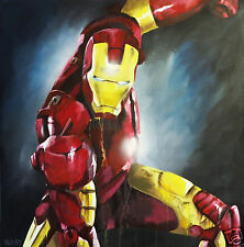 1 AM IRON MAN FILM ART CANVAS PRINT PAINTING  ORIGINAL MOVIE FILM