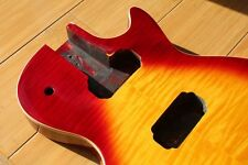 PROJECT FINISHED ELECTRIC GUITAR BODY IN SUNBURST COLOUR