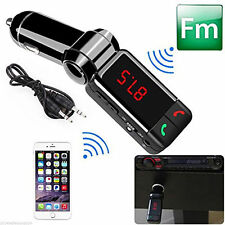 NEW LCD Bluetooth Car Kit MP3 FM Transmitter USB Charger Handsfree for iPhone