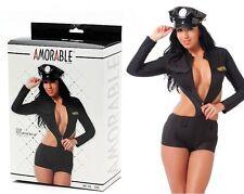 Sexy Uniforme da poliziotta con cappello Tg S/L Rimba 1048 Sexy shop Lingerie SC
