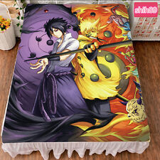 Anime NARUTO Uzumaki Naruto Uchiha Sasuke Bed sheet Plush Throw Blanket Bedding
