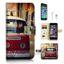 iPhone 6 6S (4.7') Flip Wallet Case Cover P3171 Kombi Van