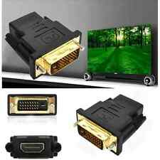 DVI-D Male (24+1 pin) to HDMI Female (19-pin) HD HDTV Monitor Display Adapter RF