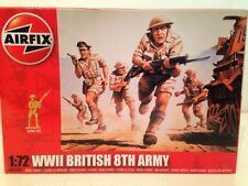 Airfix A01709  WWII British 8th Army 1:72 Scale New 49 Unpainted Pieces OFFER