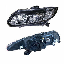 Glass Lens For Honda Civic 2012-2015 Composite Headlight  Assembly+HID