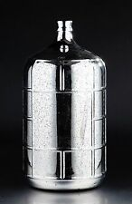 "New 22"" Hand Blown Glass Art Vase Bottle Silver Decorative"