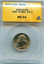 1970-D DDR FS-802 ANACS MS-64 Registry Coin, URS-5 Only 9-16 are Known to Exist
