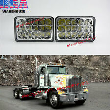 2PCS LED Headlights For Peterbilt Rectangular Headlights (Pack of 2) 357 379 378