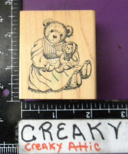 BEAR BABY DRESSED RUBBER STAMP DELAFIELD RETIRED G654