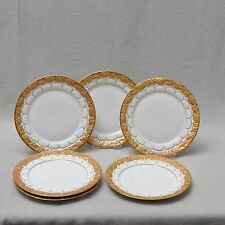Meissen X-Form, Goldbronze, 6er Set Kuchenteller / Teller, 19cm