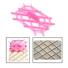 Diamond Rhombus Shape Cake Cookie Fondant Cutter Embossing Decorating Mould Mold