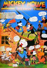 Walt Disney Mickey Mouse Weekly Poster Kunstdruck Bild 98x68cm - Portofrei