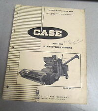 Case 1060 Self-Propelled Combine Parts Catalog Manual B958 1968
