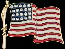 """MEMORIAL INDEPENDENCE DAY UNITED STATES USA PATRIOTIC FLAG PIN BROOCH JEWELRY 3"""""""