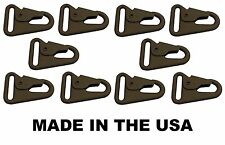 "x10 HK H&K 1"" Sling Clip Snap Hook Spring Gate COYOTE BROWN USA MADE"