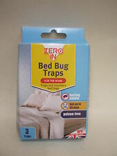New STV Zero In Bed Bug Traps Poison Free Lasts Up To 60 Days Pk3 ZER967
