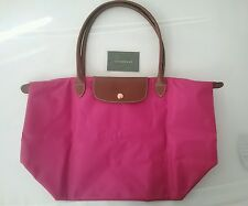 Longchamp Cyclamen Pink Large Pliage New Tote Bag Travel Guaranteed Authentic
