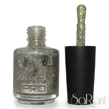 Smalto Unghie Effetto Gel 244C Silver Brillante Glitter Dolci Sguardi Nail Art