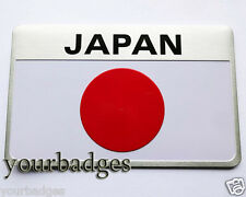 NEW Brushed Aluminium JAPAN Japanese Flag Car Badge Mazda Nissan