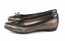 Clarks Womens Candra Glow Ballet Flat Shoe Bronze Size 7 Wide