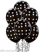 Black & White Polka Dots Latex Balloons Birthday,Wedding,Anniversary Party Decor